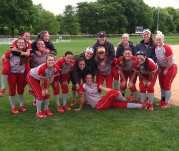 There was plenty to smile about Monday for the SXU softball team