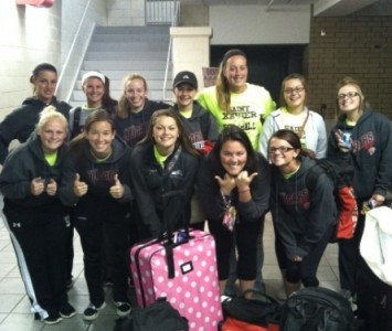 The Saint Xavier softball team was up and ready to go at 4:45 am Saturday morning