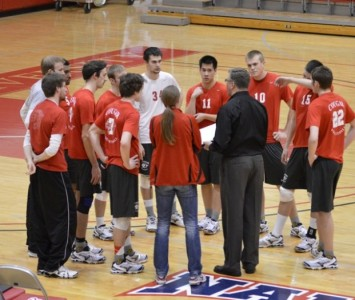 The men's volleyball team had three players total double-digit kills in Wednesday's match