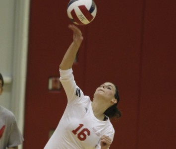 Senior Kelly Knudsen continued her stellar play Saturday at the tournament
