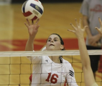 Senior Kelly Knudsen had 11 kills and nine digs against No. 15 Madonna Saturday