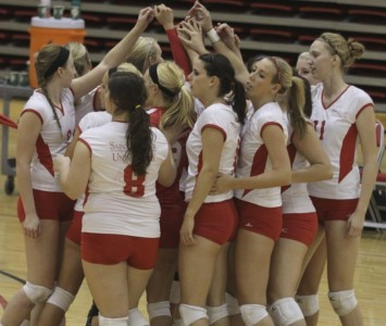 The SXU women's volleyball team had six players named to the CCAC All-Academic Team this week