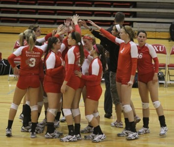 The SXU women's volleyball team kicks off national tournament play this Saturday in Michigan
