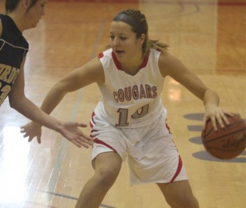 Sophomore Morgan Stuut was the lone Cougar to score in double figures Wednesday with 21 points