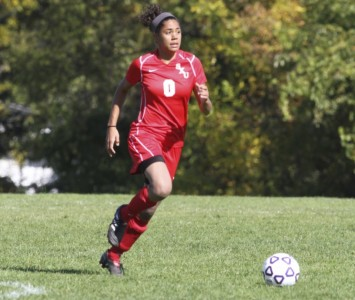 Junior Anita Balciunas got the game-winning goal for SXU late in the second half