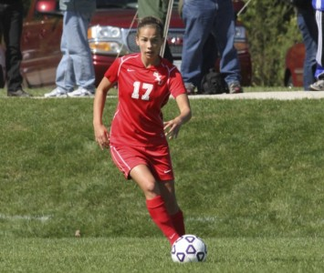 Senior Sara Cervenka had SXU's first goal of the game Saturday against Judson