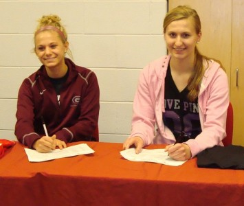 Delanie Bosworth (left) and Alexandra Perry (right) recently signed with Saint Xavier University women's soccer