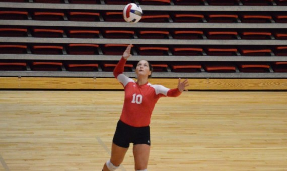 Junior Dominique Aramburu had 32 digs and six aces Saturday for Saint Xavier