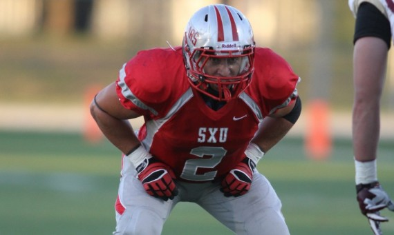 Senior Dave Marciano had a game-best 15 tackles for SXU in Saturday's game