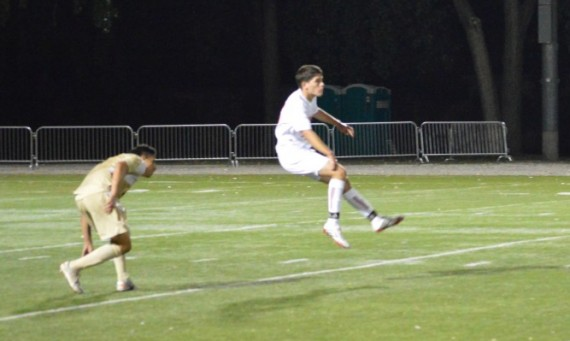 Freshman Erik Diaz scored two of SXU's three goals Tuesday against USF