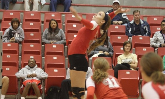 Sophomore Meghan Falsey had nine kills and 14 digs for the Cougars against Judson Tuesday