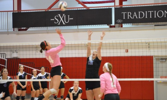 Junior Jessica Galotta had 10 kills and 15 digs to help the Cougars past TIU Tuesday