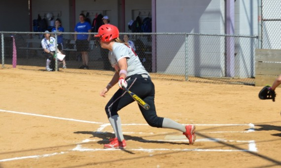 Junior Amanda Hainlen hit two homers in Friday's first game, the first SXU player to do so in over three years