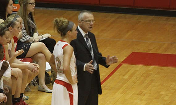 Coach Bob Hallberg and senior guard Jordan Brandt take on No. 7 seeded Ozarks