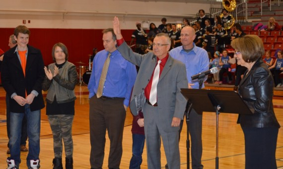 Coach Bob Hallberg had the Shannon Center main arena court dedicated in his honor Wednesday