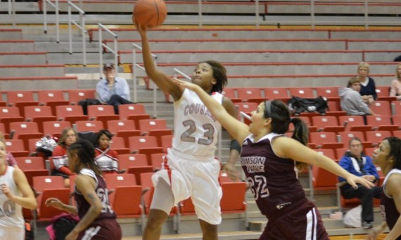 Junior Niara Harris had a nice game for SXU with 14 points, three assists and three steals