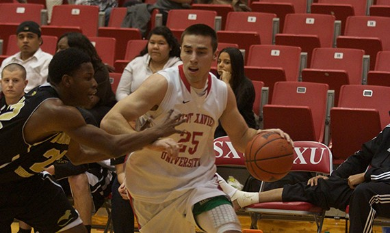 Senior guard Brad Karp was one of just five players to be named to the 2013-14 All-CCAC First Team