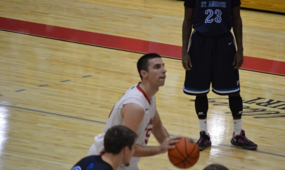 Senior Brad Karp scored 38 points Sunday to advance SXU to the tourney championship