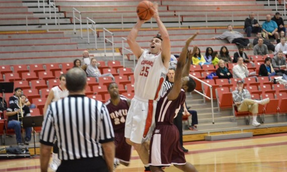 Senior Brad Karp had 30 points and eight rebounds in Wednesday's loss to RMU