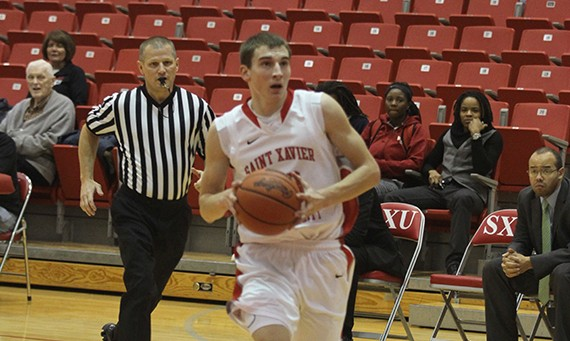 Junior guard Jack Krieger was one of three SXU basketball players on the 2013-14 NABC Honors Court