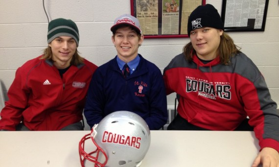 Jack Ladd (middle) becomes the third Ladd brother to be a Cougar joining Dan (left) and Tim (right)