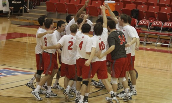 The SXU men's volleyball team tied a team record for mosts aces in a match (16) Saturday
