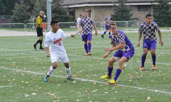 Junior Xavier Corona had one of SXU's four shots on goal in Saturday's game