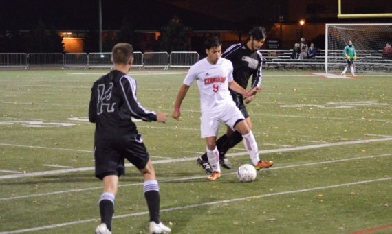 Sophomore Marco Gutierrez scored SXU's first goal of the night Wednesday