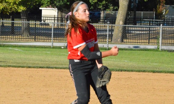 Sophomore Nicole Nonnemacher had a no-hitter with 13 strikeouts against Lourdes Thursday