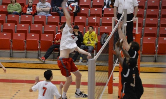 Senior J.T. O'Connell led Saint Xavier with 12 kills and six total blocks Saturday against Lourdes