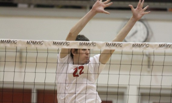 Senior J.T. O'Connell had nine kills and two block assists Tuesday against No. 6 Clarke