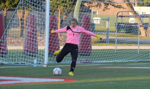 Freshman Alex Perry had eight saves in goal Wednesday against St. Francis