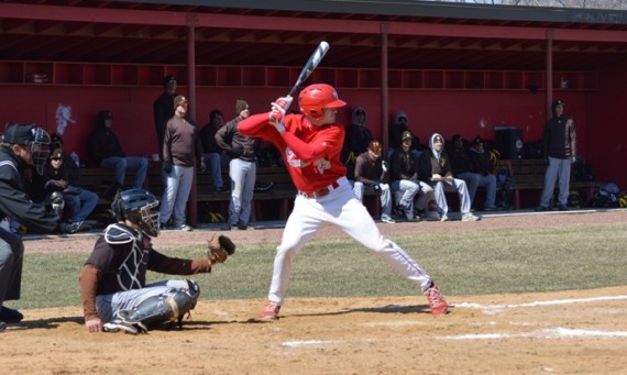 Freshman Bryan Polak had a two-run homer in the top of the sixth inning against Lewis Tuesday