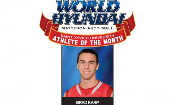 Senior Brad Karp - World Hyundai-Saint Xavier Athlete of the Month