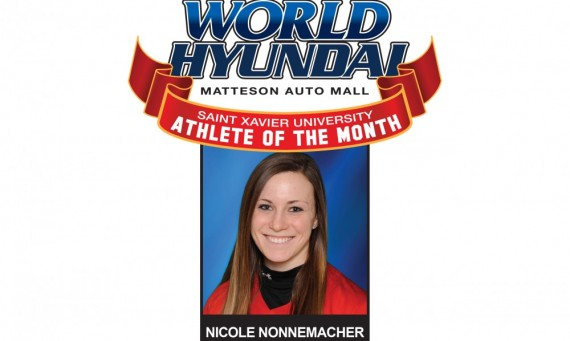 Sophomore Nicole Nonnemacher - World Hyundai-SXU March Athlete of the Month