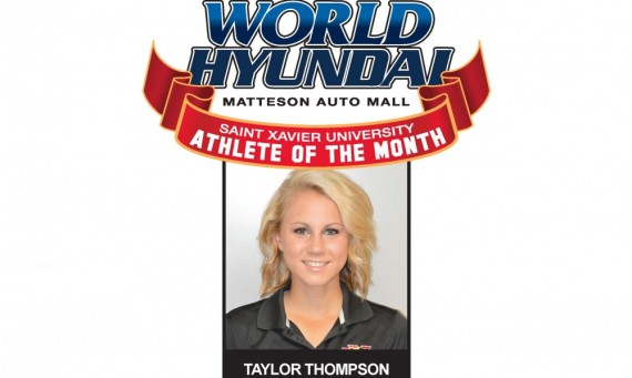 Freshman Taylor Thompson - World Hyundai-SXU April Athlete of the Month