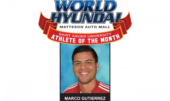 Gutierrez Named World Hyundai-Saint Xavier Athlete of the Month