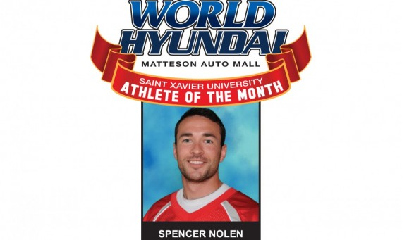 Senior Spencer Nolen - SXU-World Hyundai September Athlete of the Month