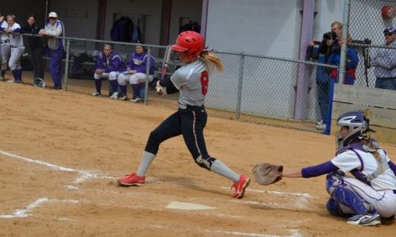 Junior Katie Sears had two huge two-run hits in SXU's 5-2 victory over Olivet Nazarene Sunday