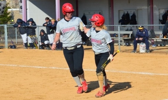Junior Katie Sears scored the game-winning run in Friday's first game with William Penn (Iowa)