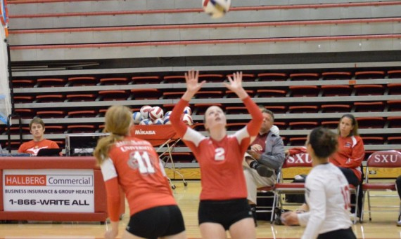 Junior Kelli Shaffer had 14 assists, three kills, two aces and seven digs Tuesday against Stritch