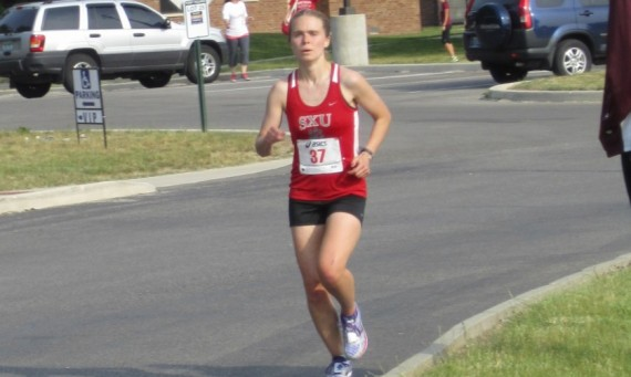 Senior Ashley Shares qualified for the NAIA marathon Saturday