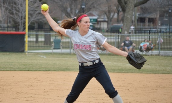 Sophomore Nicole Nonnemacher was tough on the mound and at the plate for No. 11 SXU Saturday