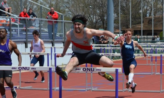 Junior Daniel Spencer won the 110-meter hurdles for SXU with a time of 16.83 seconds