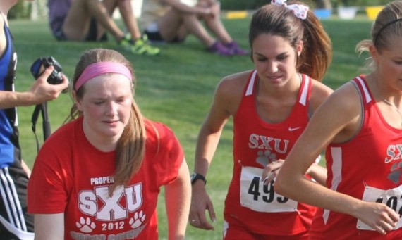 Juniors Amanda Magee (left) and Dana Martin (right) - 2013 Daktronics-NAIA Scholar-Athletes