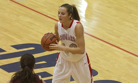 Senior Morgan Stuut had double-doubles in both of SXU's games at the Cattle Classic this weekend