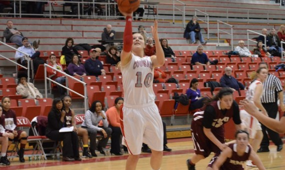Junior Morgan Stuut became the first SXU women's basketball player to eclipse 1,000 career rebounds