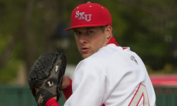 Former SXU standout pitcher Scott Vachon recently signed a contract with the Traverse City Beach Bums