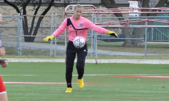 Freshman keeper Alex Perry had 16 saves against Grace College Saturday