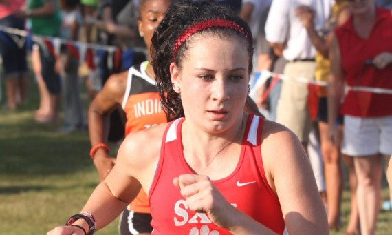 Freshman Nicole Watkins finished 11th overall in a time of 19:45.0